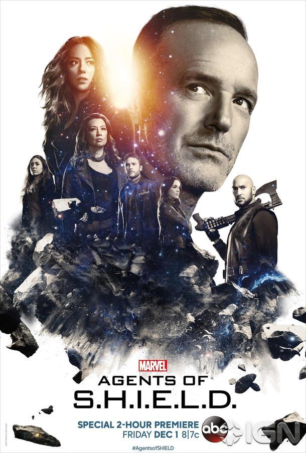 Pôster promocional da 5ª temporada de Agents of SHIELD.