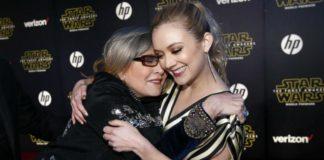 Billie Lourd e sua mãe Carrie Fisher.