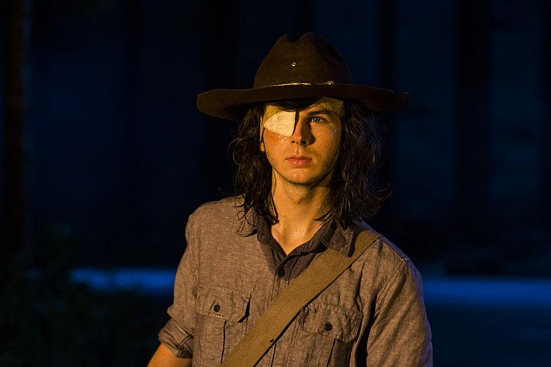 Carl em The Walking Dead