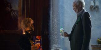 Comerciais envolvendo Peter Dinklage e Morgan Freeman.