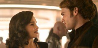 Emilia Clarke em Han Solo: Uma História Star Wars.