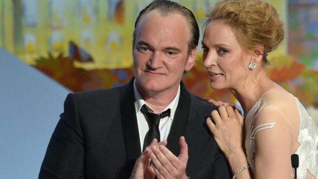 Quentin Tarantino e Uma Thurman.