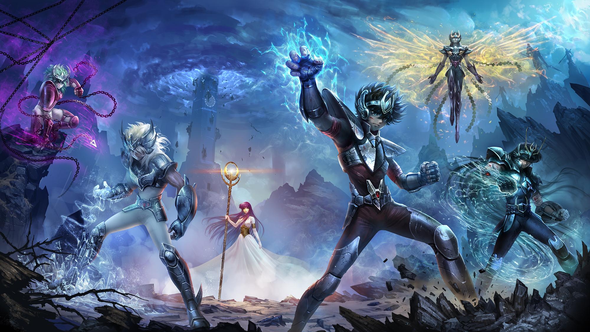 Resultado de imagem para Cavaleiros do zodiaco -  netflix