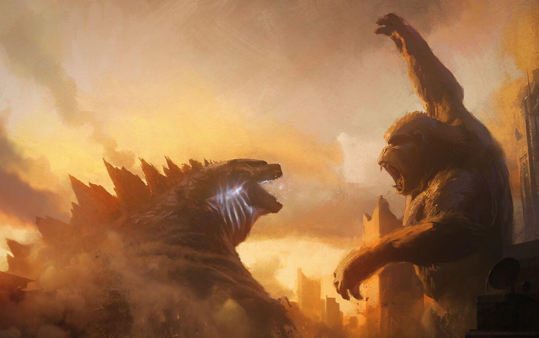 Fas Surtam Com Cartaz De Godzilla Vs Kong Veja