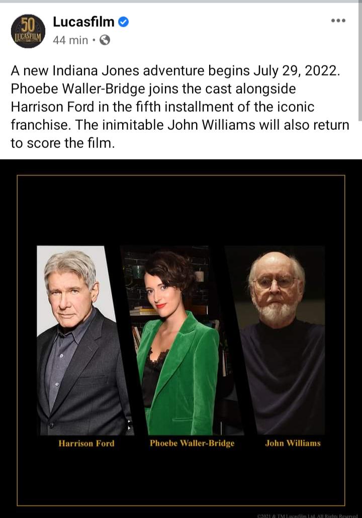 Indiana Jones 5 - elenco e equipe